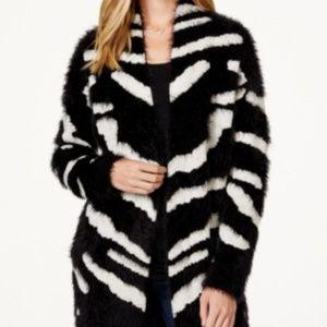 XOXO oversized zebra cardigan